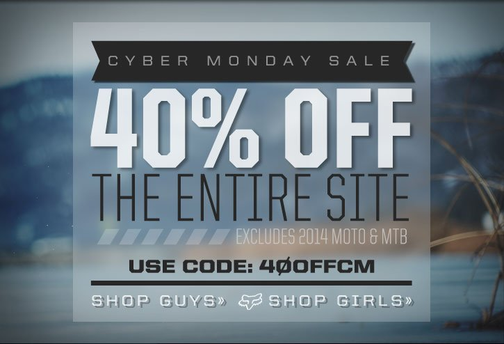 Early Access Cyber Monday - 40% Off The Entire Site