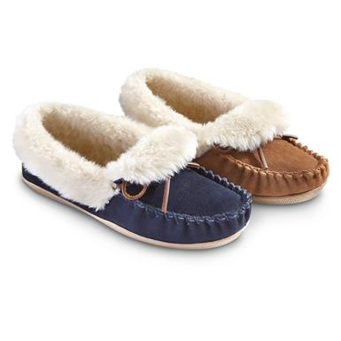 Women's Guide Gear® Rolled Collar Slippers