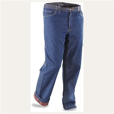 Men's Ten West® Flannel-lined Carpenter Jeans