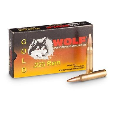 Wolf® Gold .223 55 grain FMJ Ammo