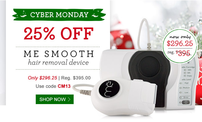 25% Off Me Smooth - Hair Removal Device!