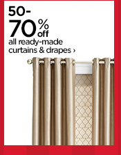 50-70% off all ready-made curtains & drapes ›