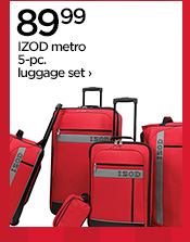 89.99 IZOD metro 5-pc. luggage set ›