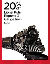 20% off Lionel Polar Express G Gauge train set ›
