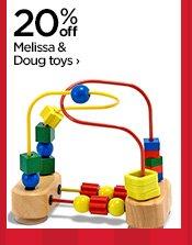 20% off Melissa & Doug toys ›