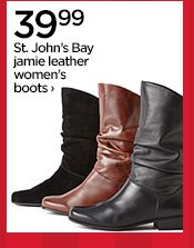 39.99 St. John's Bay jamie leather women's boots ›