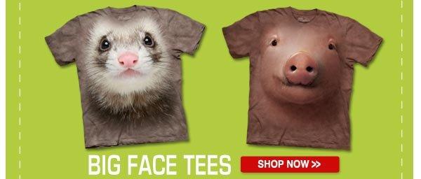 BIG FACE TEES: Shop now