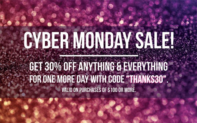 Cyber Monday | 30% Off