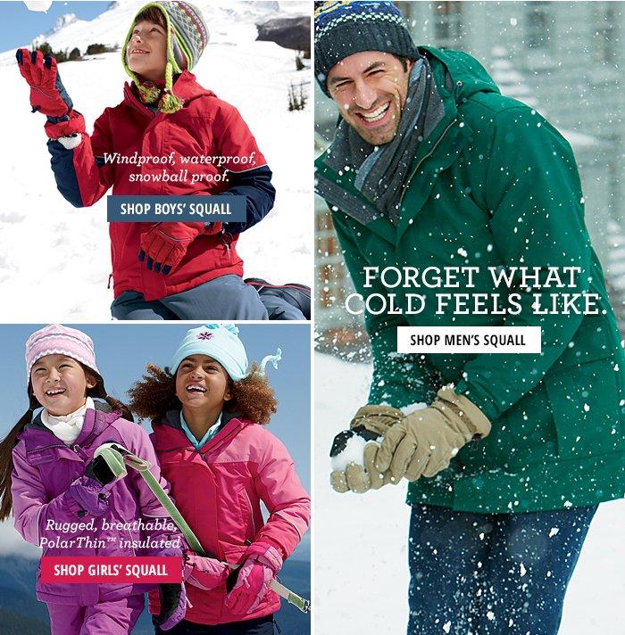 Windproof, waterproof, snowball proof