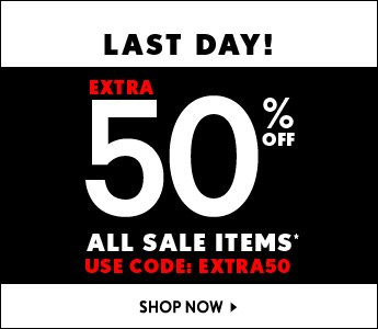 Last Day Extra 50% Off Sale