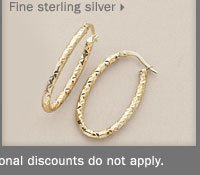 70% off fine sterling silver jewelry.