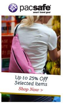 Shop PacSafe up to 25% Off
