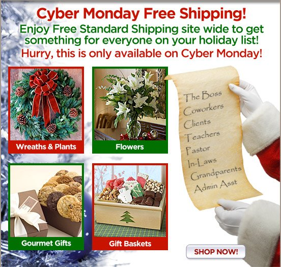 Cyber Monday Free Shipping