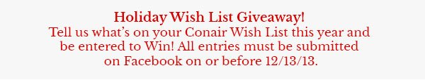 Hoiday Wish List Giveaway