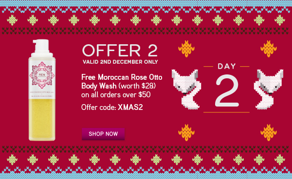 Free Moroccan Rose Otto Body Wash*