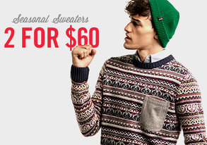 Shop 2 for $60: Seasonal Sweaters
