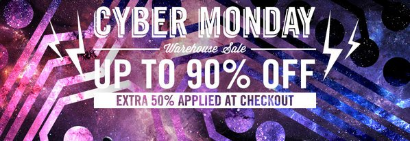 Shop Cyber Monday Warehouse Sale