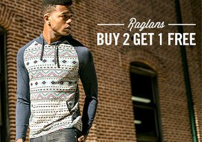 Shop Buy 2 Get 1 Free: Raglans