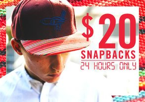 Shop $20 Snapbacks: 24 HRS ONLY