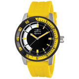Invicta 7467 Mens Signature II Black Dial Yellow Rubber Strap Watch