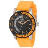Invicta 7466 Mens Signature II Black Dial Orange Rubber Strap Watch
