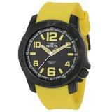 Invicta 1907 Men's Specialty Black Dial Yellow Rubber Strap Black IP Steel Watch