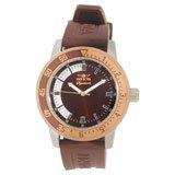 Invicta 7465 Mens Signature II Brown Dial Brown Rubber Strap Watch