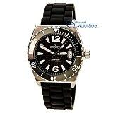 Croton CA301219BSBK Men's Quartz Rubber Strap Dive Watch