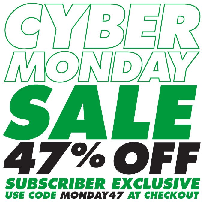 CYBER MONDAY SALE - 47% OFF