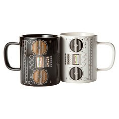 Boombox Mugs Set of 2