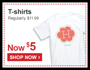 T-shirts Regularly $11.99 Now $5 - Shop Now ›