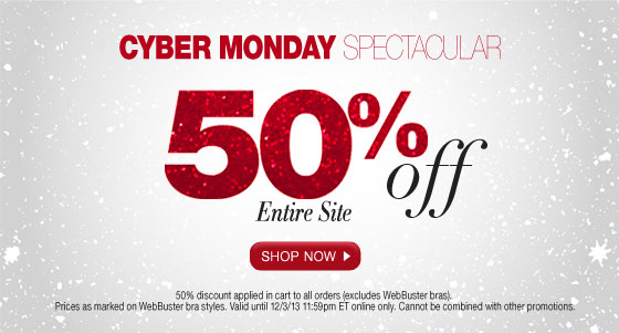 Cyber Monday Spectacular: 50% Off Entire Site
