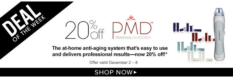 Deal of the Week: Save 20% on PMD Personal MicrodermThe at-home anti-aging system that's easy to use and delivers professional results—now 20% off!*Offer valid December 2 – 8Shop Now>>
