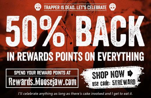 50% Back - Today only with code 5XREWARD