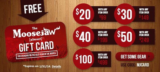 Free Moosejaw Almost Gift Card with anything over $99