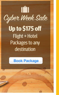 Up to $175 Off Flight + Hotel Packages