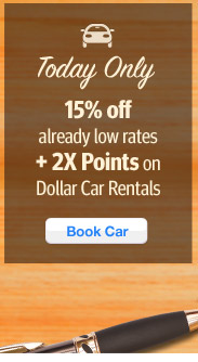 Today Only 15% Off Dollar Car rentals