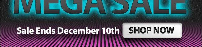 Cyber Monday Mega Sale! Shop Now, Sale Ends December 10th