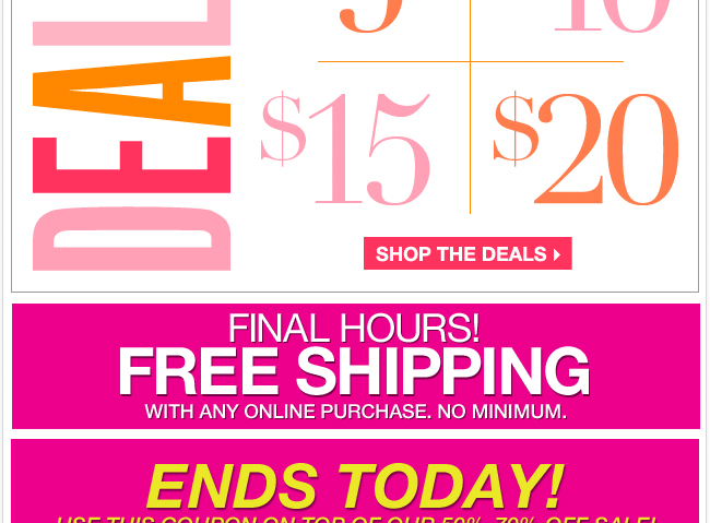 Final Hours for FREE Shipping!