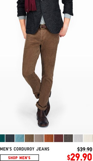 MEN'S CORDUROY BOTTOMS
