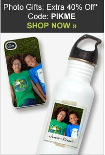 Photo Gifts: 40% off with code PIKME