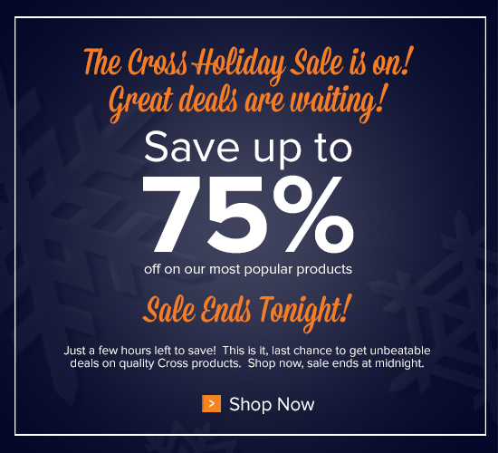 Holiday Sale Ends Tonight