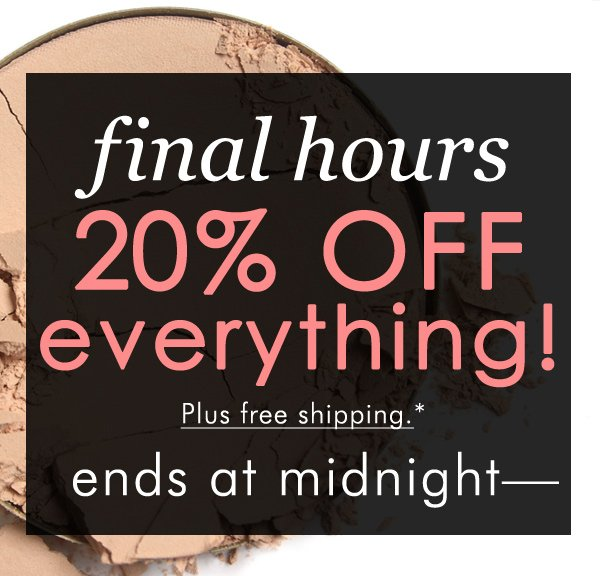 Cyber Monday: 20% off site-wide plus free shipping with code ONEDAY - ends at midnight