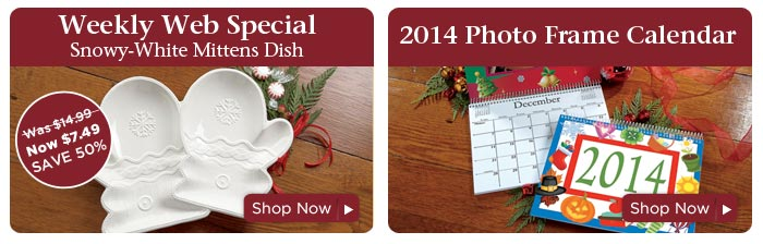 Weekly Web Special & 2014 Phot Frame Calendar