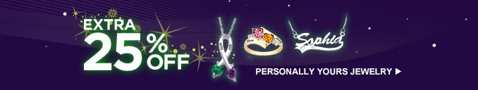 Extra 25% off Personally Yours Jewelry