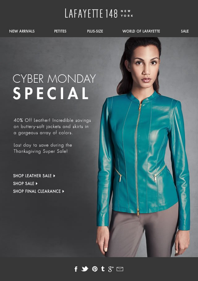Cyber Monday: 40% Off Select Leather Styles