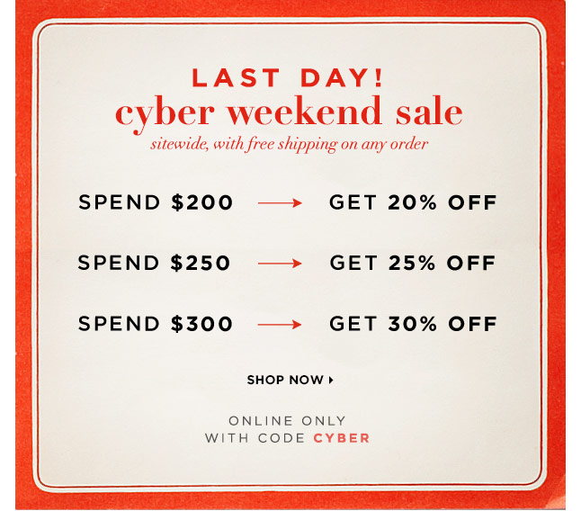 Last Day To Save Up To 30% Off Sitewide & Receive Free Shipping