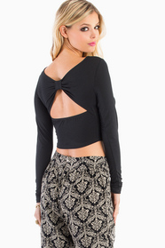 Back Bow Crop Top