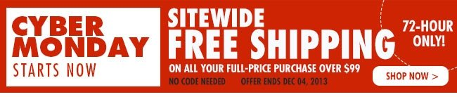 Free Shipping-Cyber Monday