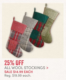 25% off All Wool Stockings